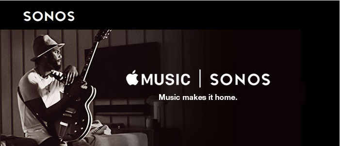 Apple music is streaming on Sonos